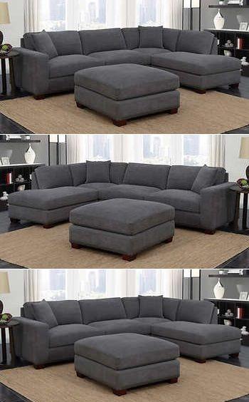 Gray Sectional Sofa Costco   Sofa design, Ecksofas, Sofa set desig