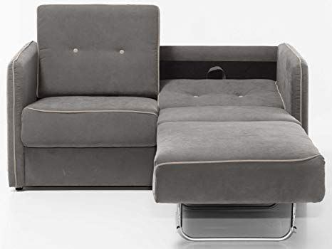 Graues Mikrofaser-Schnittsofa für Wohnzimmer   Schlafcouch, Sofa .