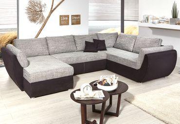 Graues Mikrofaser-Schnittsofa für Wohnzimmer   Sofas   Wohnen .