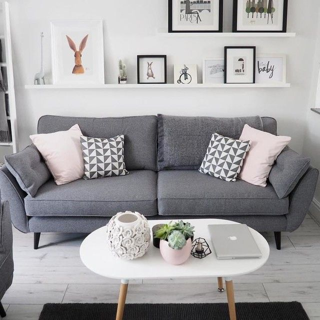 Zinc 4-seater and 2-seater in charcoal | Living room decor grey .