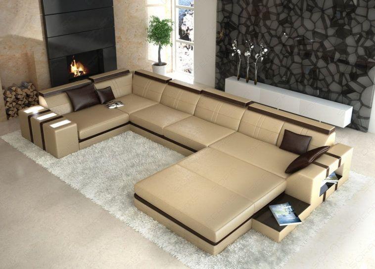 Möbel Extra Große U-Förmigen Querschnitt, Getuftet Sofa Mit Extra .