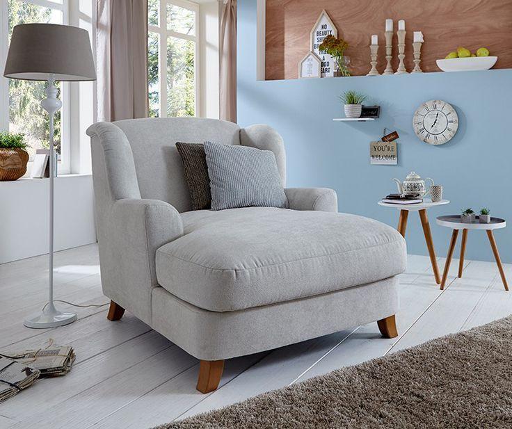 gemütlicher großer Stuhl Asado   Schlicht in grau / weiß kommt er .