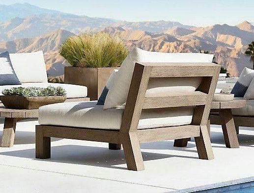 Sessel - Sessel Polstermöbel Loungesessel Teak Holz Stuhl - ein .