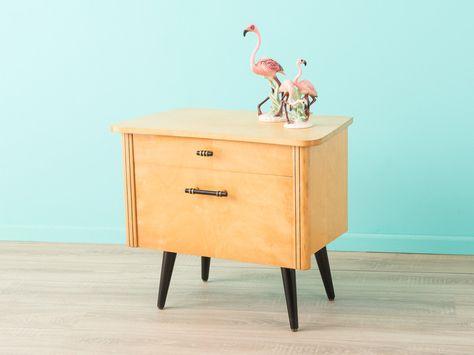 Großer 1950er Nachttisch, 60er, Kommode, Vintage von MID CENTURY .
