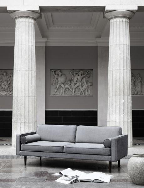 Design Sofa WIND mit Samtbezug in Magnet Grey | Sofa design .