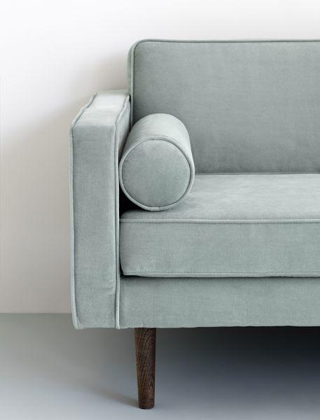 Design Sofa WIND mit Samtbezug in Magnet Grey | Großes sofa, Sofa .