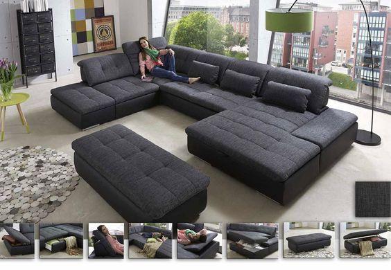 Wohnlandschaft Lomo | Das große Sofa in U-Form bieten sagenhaft .