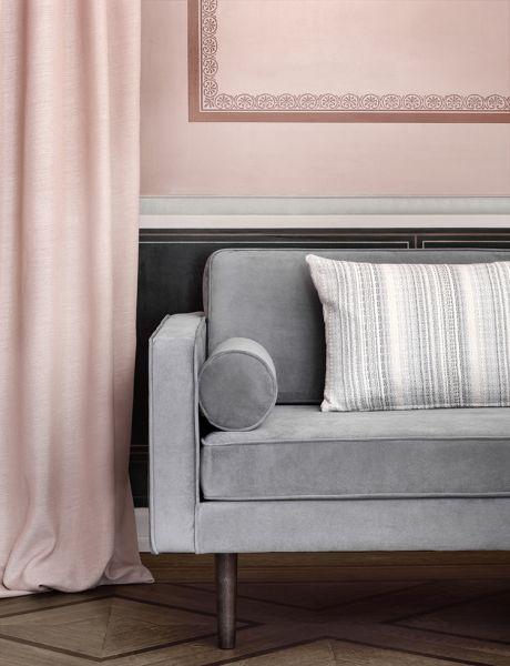 Design Sofa WIND mit Samtbezug in Magnet Grey | Sofa design, Sofa .