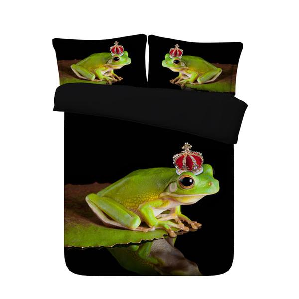 Großhandel 3D Grüne Frosch Bettbezug Set Bettwäsche Dekorative 3 .
