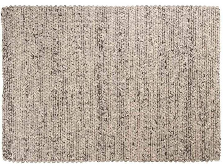 Kayum: 100cm x 140cm Elfenbein grau Wollteppich, handgemachte .