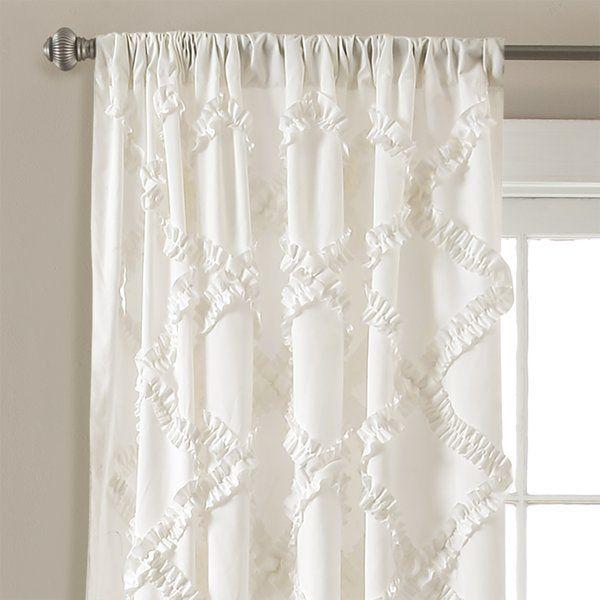 Ornellas Geometric Rod Pocket Curtain Panels in 2019   Gardinen .