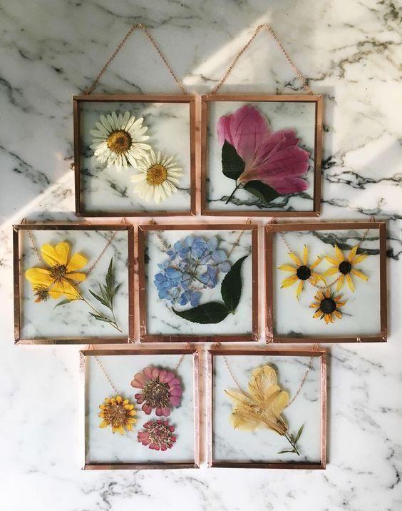 Hauptdekorationen; gerahmte Blumen; Heimwerker und Handwerker; DIY .