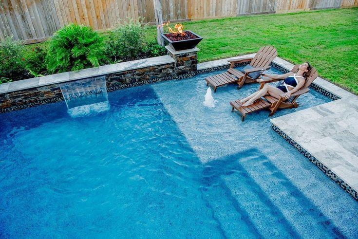 34 Cozy Pool Seating Ideas | Schwimmbäder hinterhof, Kleine .