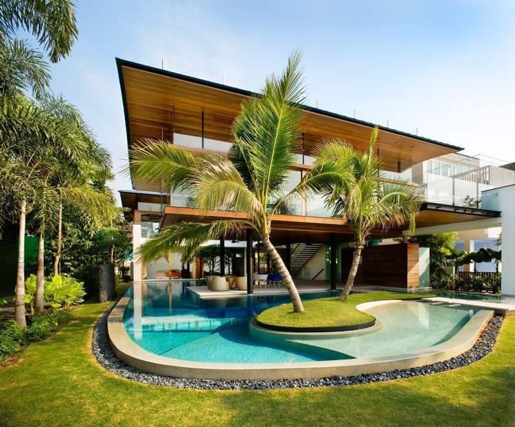 Pool im Hinterhof - 18 moderne Ideen für Schwimmbeck