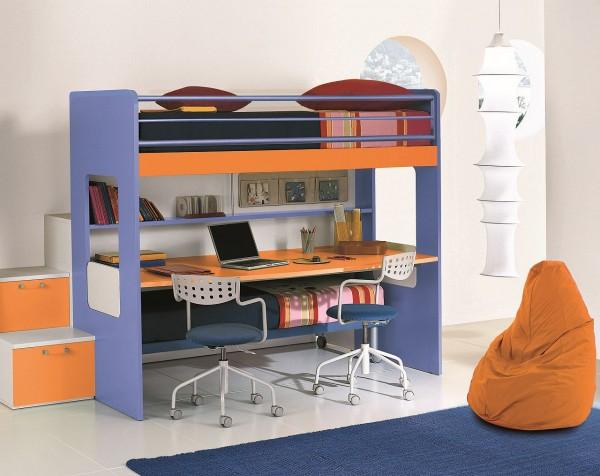 Hochbett für Kinder mit Schreibtisch   TrauM-Möbel.c