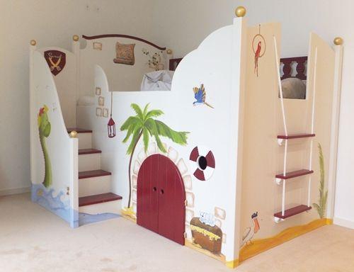 Wahnsinnig schönes Piraten-Hochbett für Kinder. #hochbett .