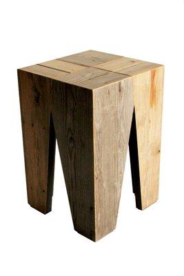 Holzhocker von Marco Caliandro bei Pamono kauf