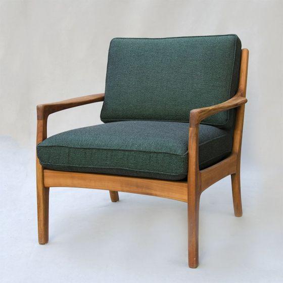 HOOK&EYE Vintage Holzsessel grün/schwarz - HOOK & E