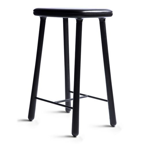 Contemporary bar stool / leather / wooden / contract CUBA by .
