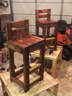 DIY pallet bar stools. - home/mobel#bar #diy #homemobel #mobel .