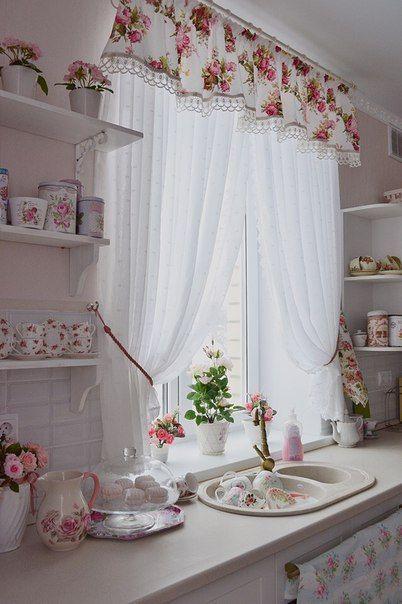 Küchenvorhänge   Küchenvorhänge, Shabby chic dekoration, Haus .