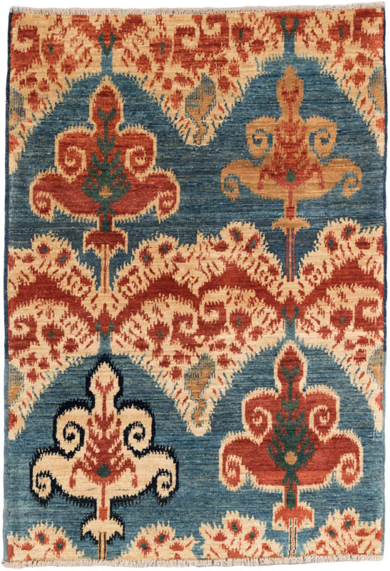 Fine Ikat Wool Rug - Kebabian's Ru