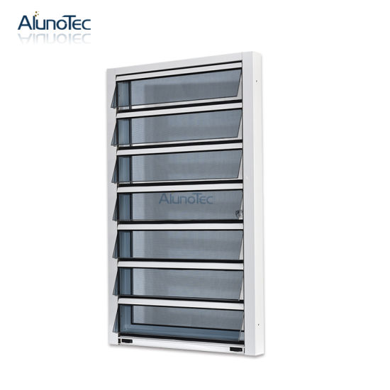 China Hurricane-Proof Jalousie Glass Louvered Window with .