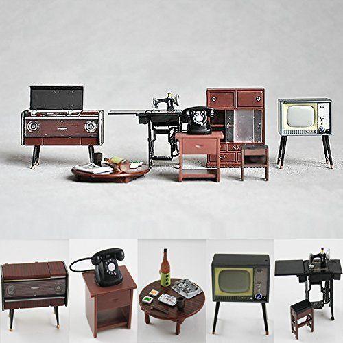 Odoria 1/24 Miniatur Möbel Vintage japanische Möbel 6 Stü... https .