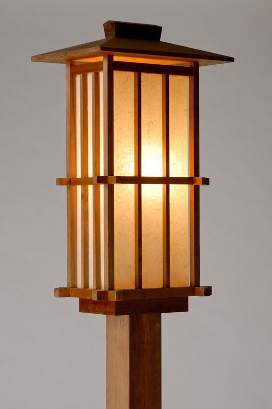 Garden andon | Japanese lamps, Wooden lamp, Wooden lanter