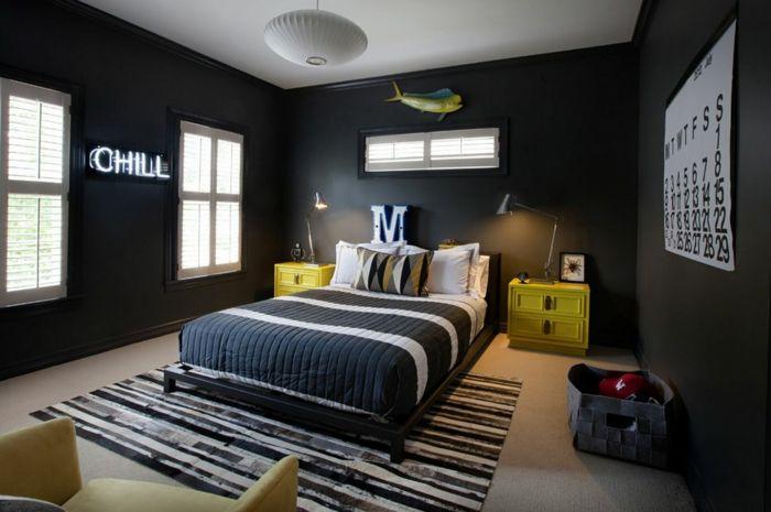 70 Wände streichen Ideen in dunklen Schattierungen | Coole zimmer .