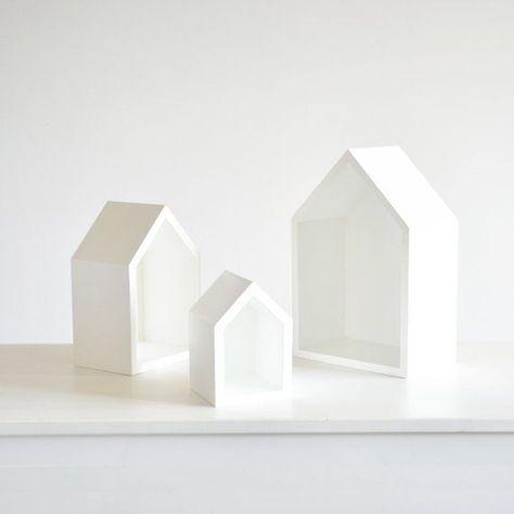 Weiße Bücherregale Haus Form Spielzeug Lagerung, Bücherregal .