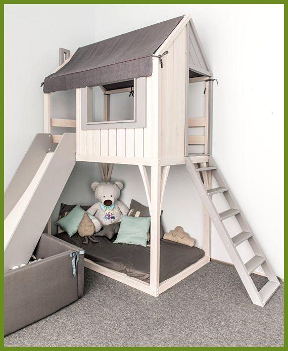 Loft-Bett, Spielhaus, Kinderbett, Etagenbett für Kinder .
