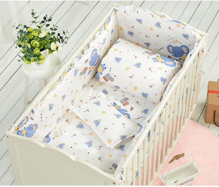 7 STÜCKE Baby Bett Stoßfänger Bett Um Neugeborenen Kinderbett Baby .