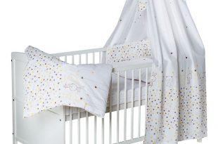 Komplett Kinderbett Conny, Teddystar, 5-tlg. (Kinderbett, Matratze .