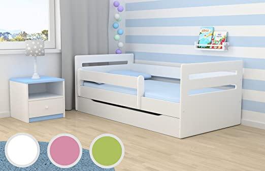 Kocot Kids Kinderbett Jugendbett 80x160 Weiß mit Rausfallschutz .