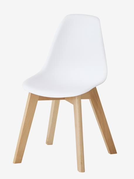 """Vertbaudet Kinderstuhl ,,Scandinave"""", Sitzhöhe 31,5 cm in weiß/nat"""