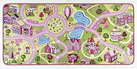 HANSE Home Spielteppich Kinderteppich Sweettown Polyamid Rosa 160 .