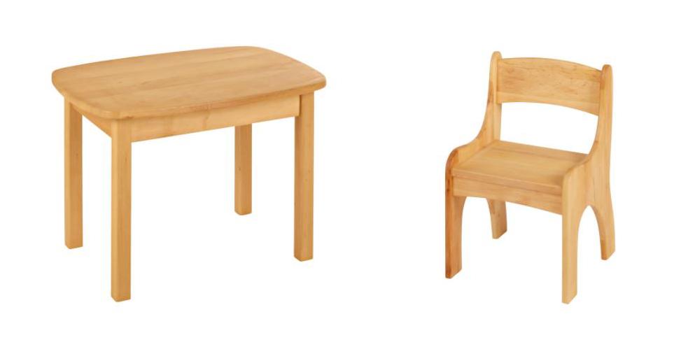 Kindersitzgruppe Kindertisch mit Stuhl Kinderstuhl Tisch Holz Erle .