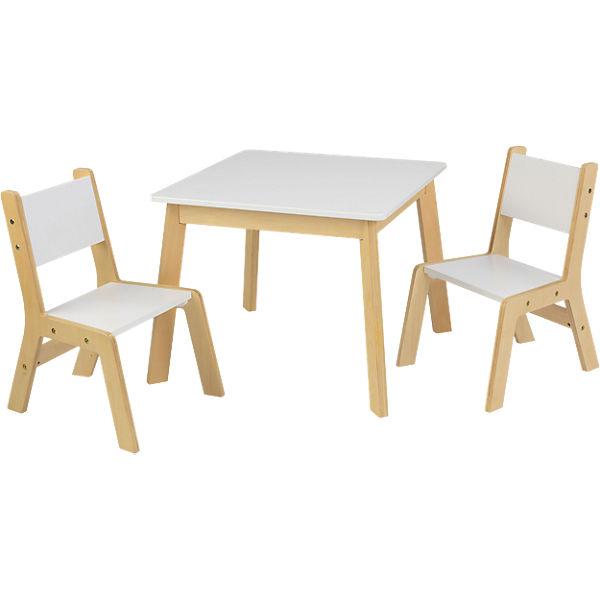 Moderner Kindertisch mit 2 Stühlen, KidKraft | myTo