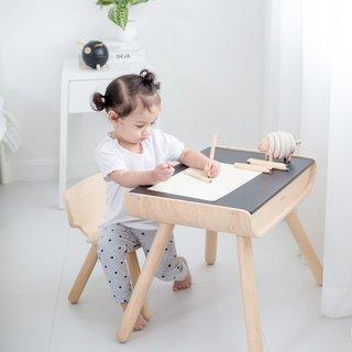 Plantoys Kindertisch mit Tafeloberfläche & Stuhl aus Massivholz - Or