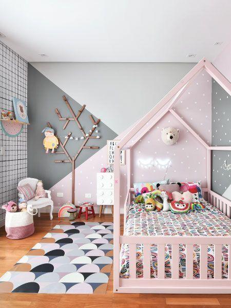 Geometrische Malerei im Kinderzimmer | Kinder zimmer, Kinderzimmer .