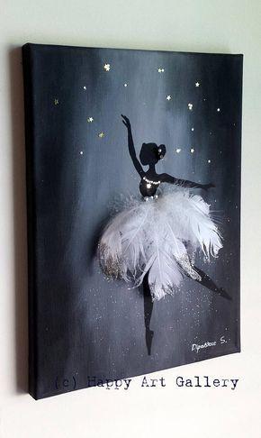 Swan Ballerina - Geschenk für Kinder Kinderzimmer Dekor .