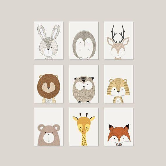 Deer Wall Art Nursery Wandkunst Tiere Nursery Wandkunst - # Tiere .