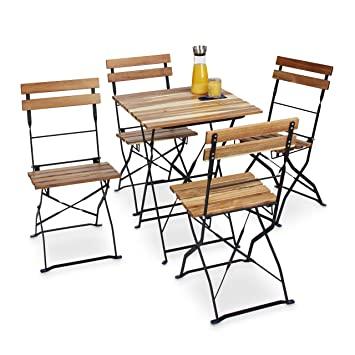 Amazon.de: Relaxdays Gartenstuhl 4er Set, klappbar, Metall .