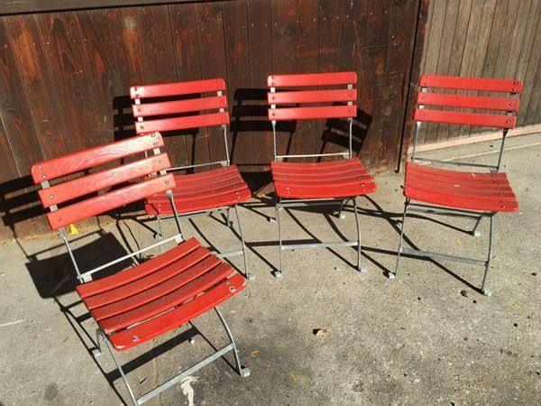 Klappbare Gartenstühle