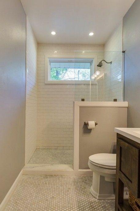 Kleine Badezimmerideen gestalten winzige Räume begehbar in Dusche .