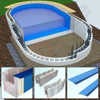 Ovalpool Styrofoam PS25 5.0 x 3.0 x 1.5 m - | Yapool.de | Ovaler .