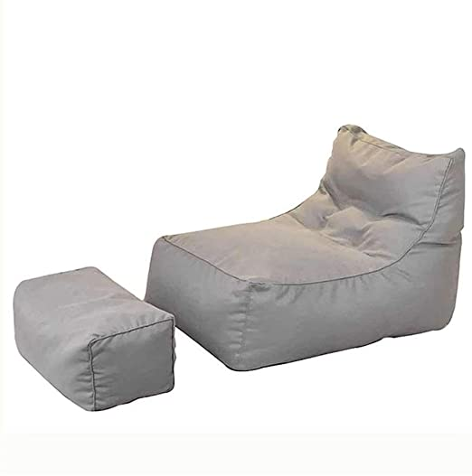 MZXI Sitzsack Mit Fußschemel Lazy Sofa Lounger Lounge Mit Hoher .