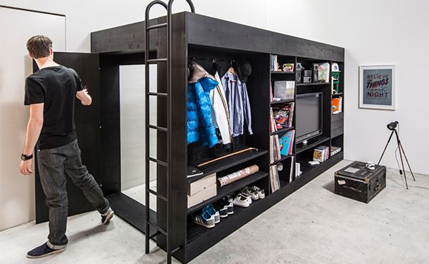 Wohnideen für kleine Räume | Kleiderschrank design, Platzsparende .