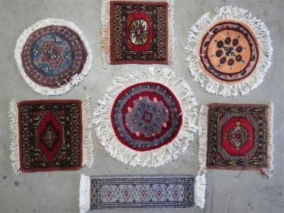 7 Stück kleine Teppiche, Pakistan, neuzeitlich - Antiques, art and .